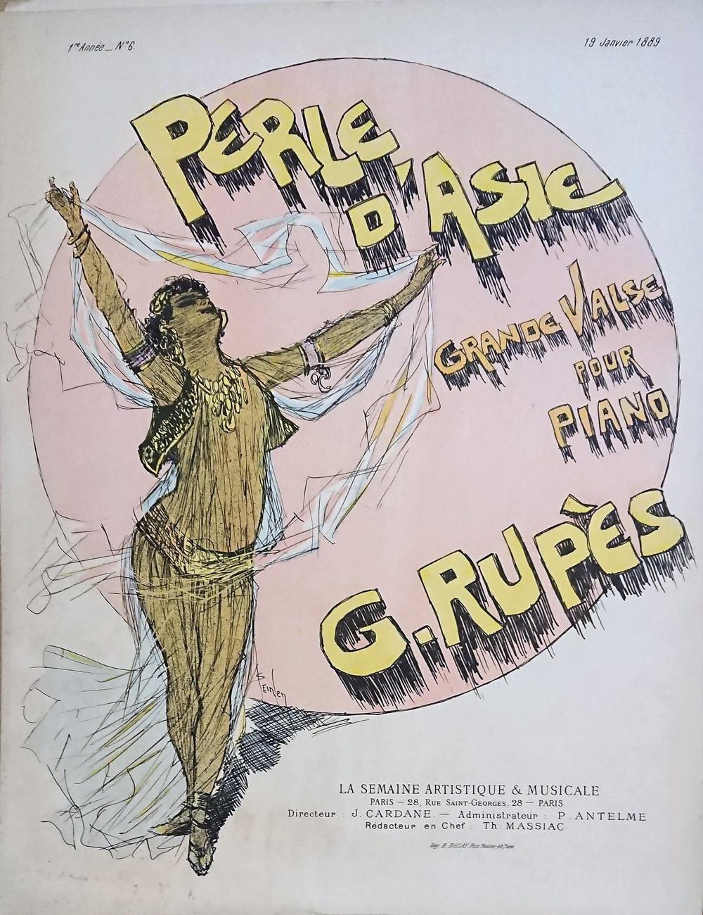 G. リュペース《アジアの真珠――ピアノのための大ワルツ》