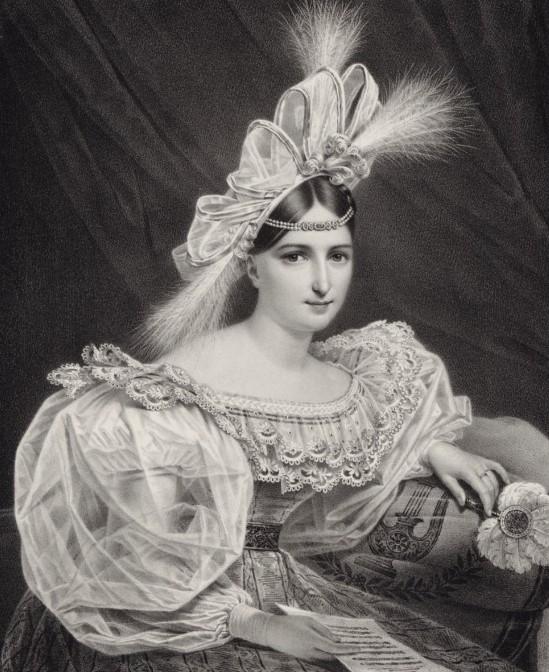 ロール・シンティ=ダモロー夫人(1830年) (BnF, Gallica, public domain)