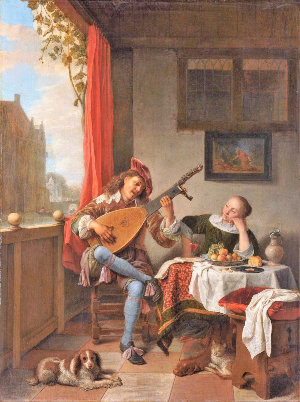 ヘンドリック・マルテンス・ゾルフ《リュート弾き》(1661年)