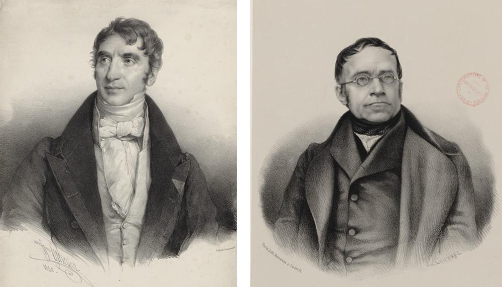 ジョゼフ・ヅィメルマン(左、1840)とカール・チェルニー(右、1856)